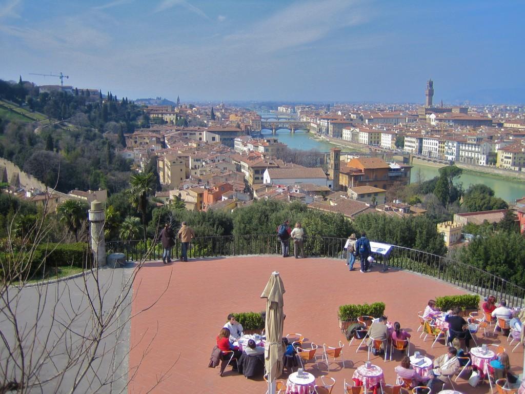 El café con las mejores vistas de Florencia