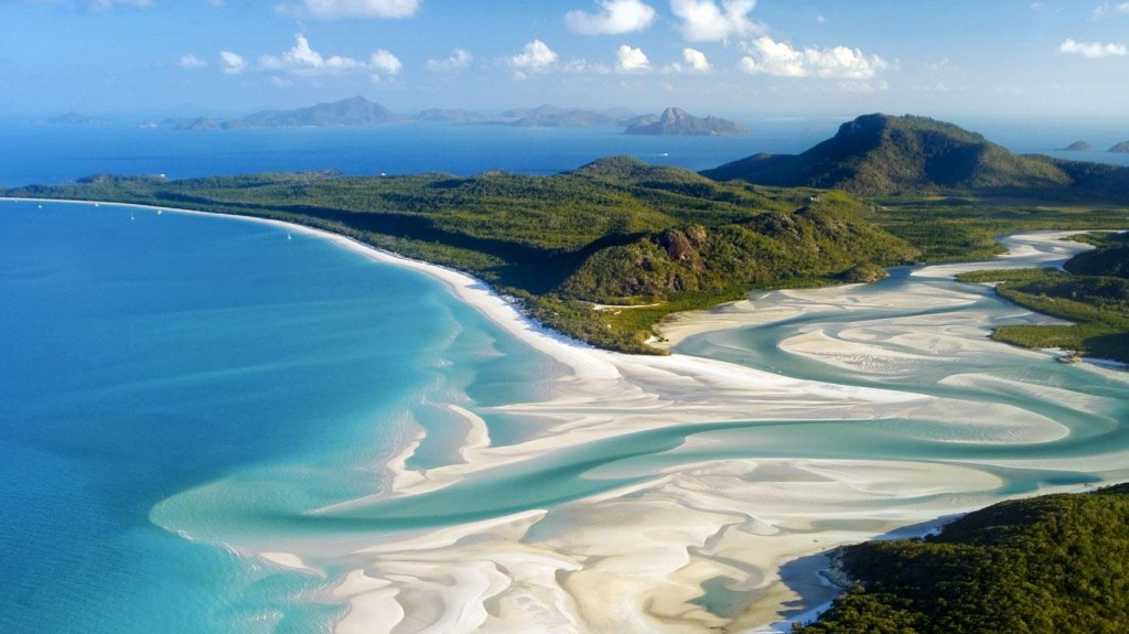 5. Whiteheaven Beach en Whitsunday Island (Australia).