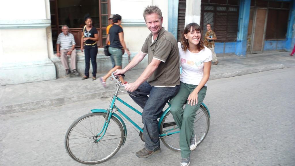 En Cuba, grabando con Ian Wright