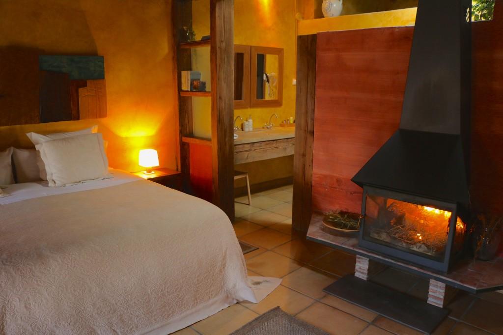 Esta habitación es la más demandada por los huéspedes del Jardín Vertical de Vilafamés (Castellón).