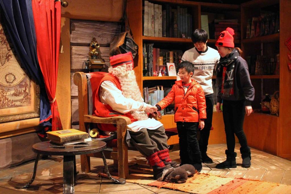 Santa Claus, la estrella de Laponia finlandesa.