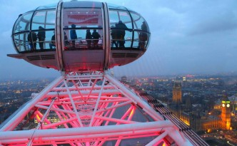 Insuperables las vistas desde el London Eye.