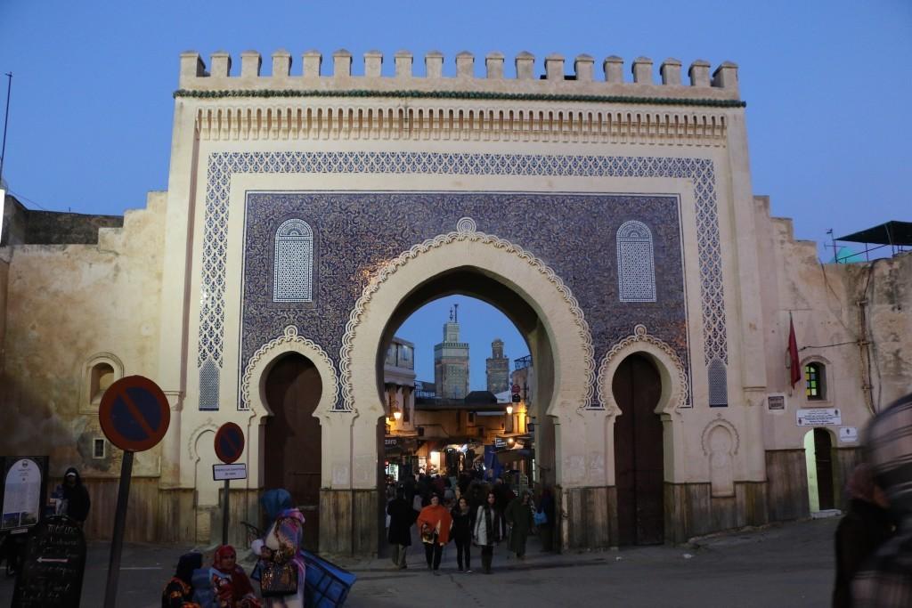 La Puerta Azul de la Medina de Fez.