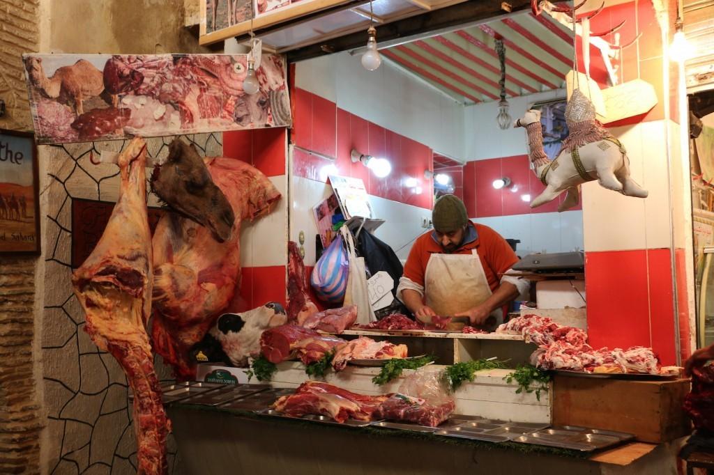 La carne de camello, la gran protagonista de las carnicerías.