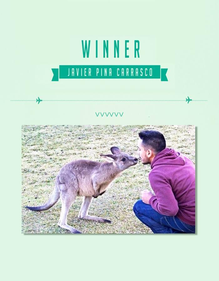La foto que ganó el concurso que llevó a su madre a Australia.