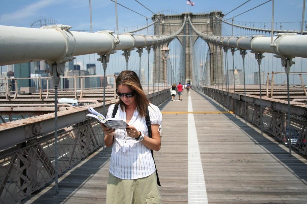 El puente de Brooklyn ofrece el mejor skyline de la ciudad de Nueva York.