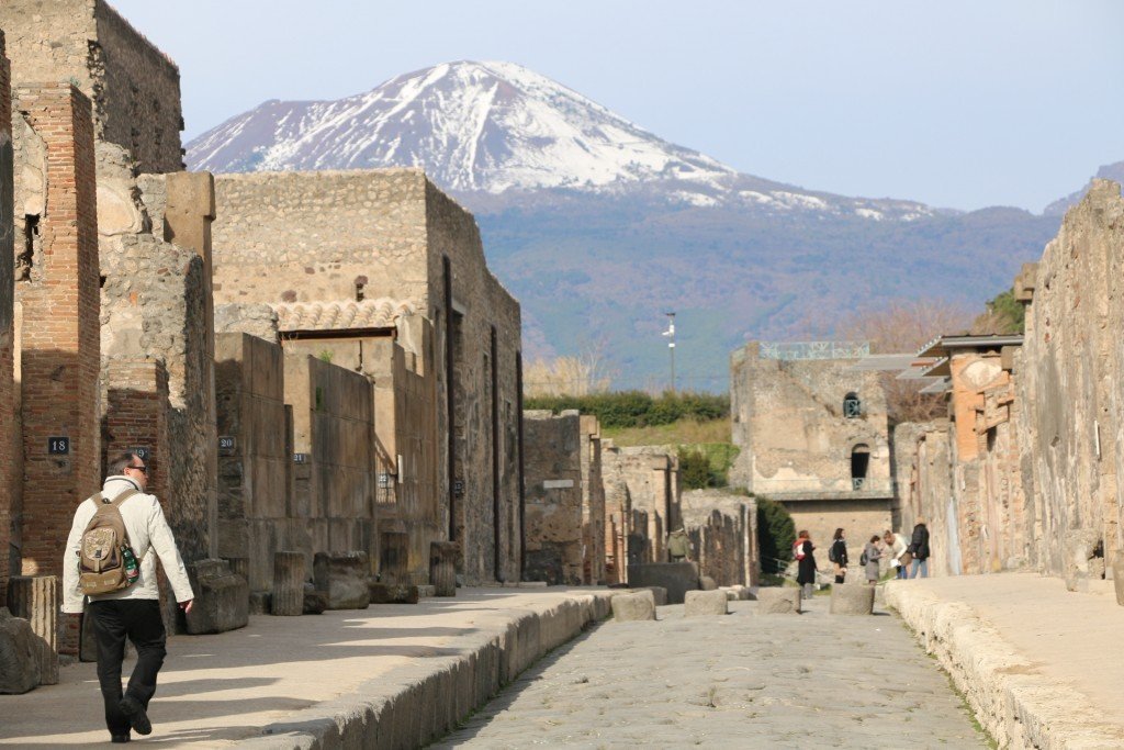 La ciudad de Pompeya con las calles intactas tras la erupción que la sepultó en el año 79 d.c.